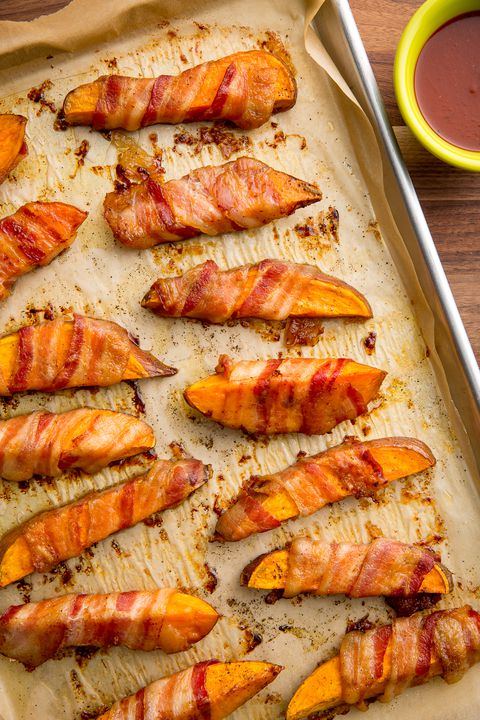 Bacon-Innpakket Sweet Potato Fries Recipe