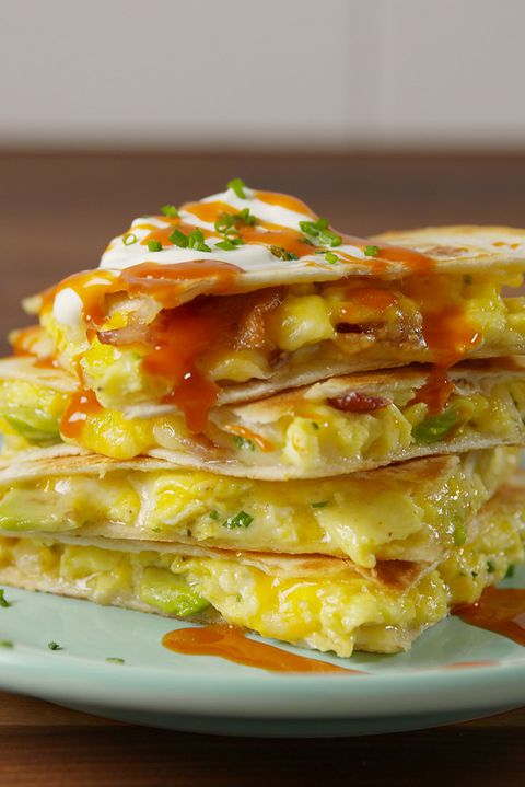 loaded Breakfast Quesadilla Vertical