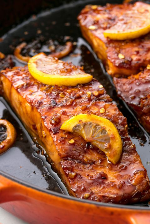 Honing Garlic Glazed Salmon Horizontal