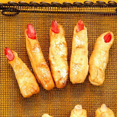 Ове lifelike pretzel fingers are worth the effort. Not only are they tender and savory with a hint of rosemary, they are also ghoulishly good at scaring Halloween-party guests.Recipe: Ladies' Fingers and Men's Toes