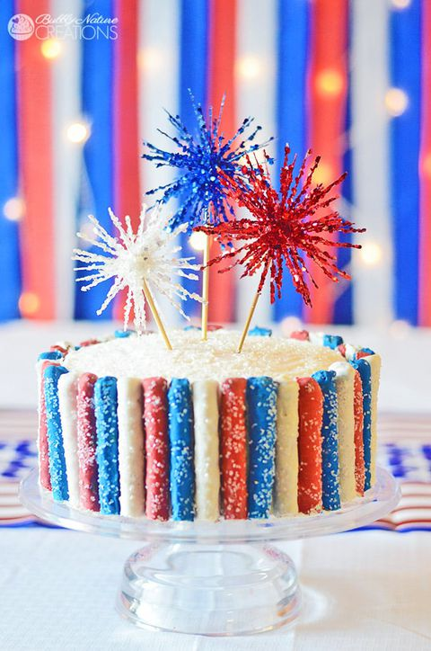 4a of July Sparkler Cake