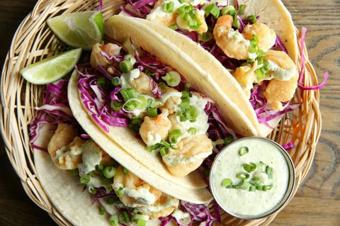 Reke Tempura Tacos with Scallion Aioli Recipe