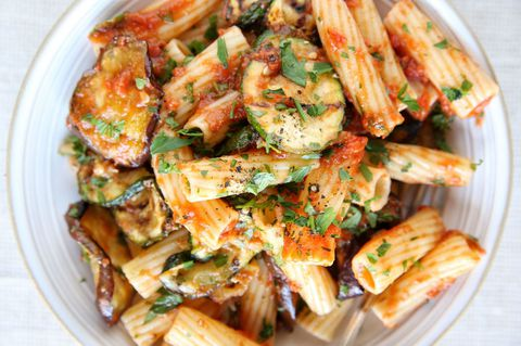 La grătar Vegetable Rigatoni Recipe