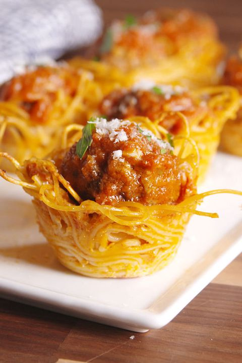 spagetti & Meatball Bites