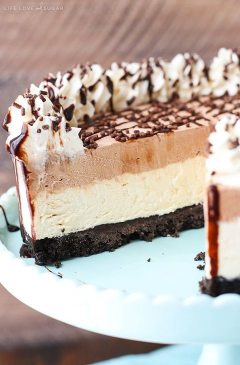 Смрзнуто Irish Cream Mousse Cake