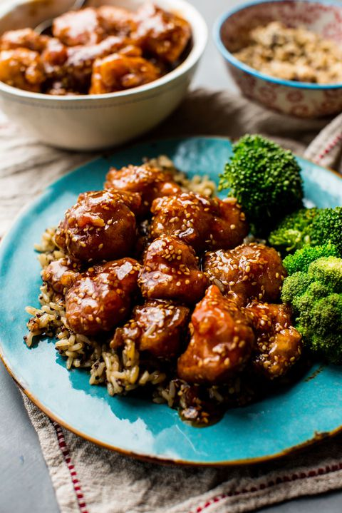 Crispy Honey Sesame Chicken Vertical