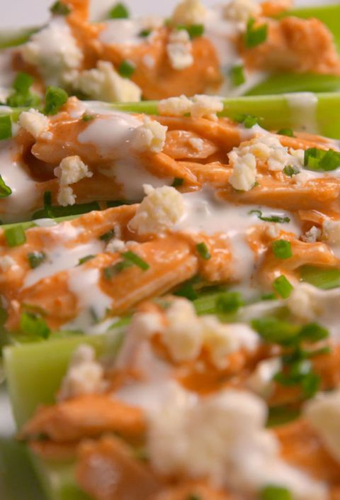 Búfalo Chicken Celery Boats Vertical
