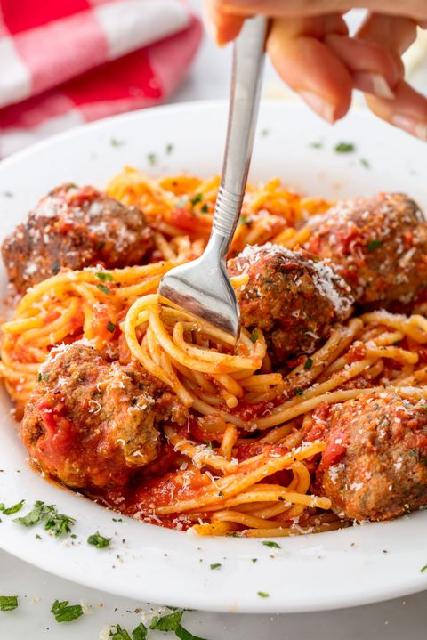 Spaghetti and Meatballs Vertical