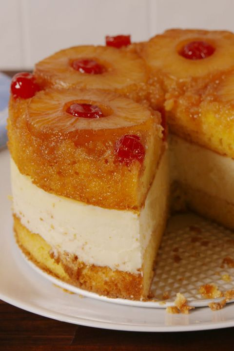 Ananas Upside Down Cheesecake Vertical